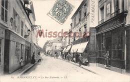 78 - RAMBOUILLET - La Rue Nationale - écrite 1904 - 2 Scans - Rambouillet