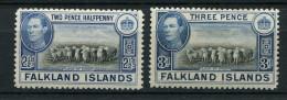 (cl 21 - P44) Falkland * N° 81 - 81A - George V - Moutons - - Falklandinseln