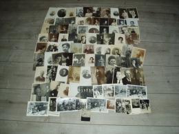Lot De 91 Photos De Personnes (hommes, Femmes, Mode, Coiffure D'époque) - Personnes Anonymes
