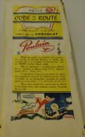 DEPLIANT PUBLICITAIRE PUB CHOCOLAT POULAIN  SUR LE CODE DE LA ROUTE - Publicités