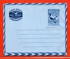 MALAISIE  AEROGRAMME 30 C NEUF OISEAU - Malaysia (1964-...)