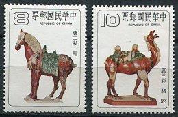 (cl 21 - P46) Formose ** N° 1290/1291 (ref. Michel Au Dos) - Poteries De La Dynastie T'Ang (cheval, Chameau) - - 1945-... République De Chine