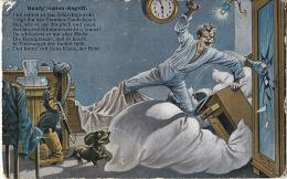 - Carte Homme En Bagarre Dans Son Lit -,Handgranaten- Angriff - Minist Genehmigt N°168/7 - Humor