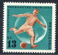 BULGARIE 1962 - ** - YT 1138 - Coupe Monde Chili - Football Soccer 3-12 - Coupe Du Monde