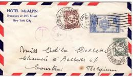 Van Us (amerika)naar Courtrai( Belgie)  1937 - Covers & Documents