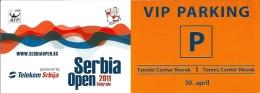 Sport Match Ticket UL000256 - Tennis: Serbia Open Belgrade - Parking VIP 2011-04-30 - Match Tickets