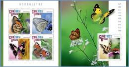 gb14805ab Guinea Bissau 2014 Butterflies 2 s/s