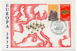 Strasbourg Europa 1972  Illustration Or Fin Numérotée  état Superbe - Evénements