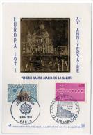 Strasbourg Paris Europa 1971 Venezia Santa Maria Salute Illustration Or Fin Numérotée  état Superbe - Evénements