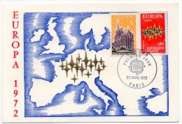 Paris Europa Géographie 1972  Illustration Or Fin Numérotée  état Superbe - Evénements