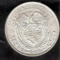 MONEDA DE PLATA DE PANAMA DE 1 BALBOA DEL AÑO 1966  (COIN) SILVER,ARGENT. - Panamá