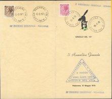 """1975-Italia Menù Circolo Del """"""""51"""""""" 5ª Assemblea Generale Istrana 20º Riunione Conviviale Pedavena - 6. 1946-.. Repubblica"""