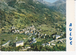 AULUS-LES-BAINS  (09-Ariège), Vue Générale Aérienne Et Le Col De Saleix, Ed. Cim Combier - France