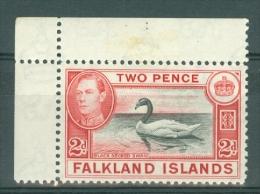 Falkland Is: 1938/50   KGVI   SG150    2d   Black & Carmine-red   MH - Falklandeilanden