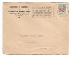 ENVELOPPE Publicitaire De 1965... Entreprise De Carrières, Ste LEFEVRE Et Madame MARIE à MISSY Par Noyers Bocage ( 14) - France