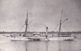 Batiment Militaire Marine Francaise Aviso Pluvier A Roues 1881 Tampon Musee De La Marine Porte De Chaillot - Bateaux