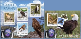 m14416ab Mozambique 2014 Birds of prey Ealge 2 s/s