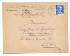 ENVELOPPE Publicitaire De 1958... COMPAGNIE GENERALE DURALUMIN Et Du CUIVRE , Usine De DIVES ( 14) - France