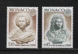 Monaco Timbres Neuf ** De 1974  Europa  N° 957 Et N°958 - Monaco