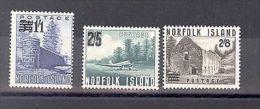 NORFOLK ISLANDS SG 37-39  1960 COLOUR CHANGE SURCHARGE SET OF 3 MNH - Isola Norfolk