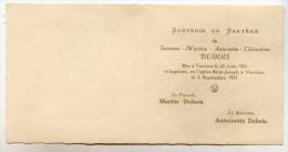 Souvenir Du Baptème De DUBOIS Suzanne  *Verviers * - Geboorte & Doop