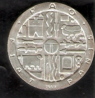MONEDA DE PLATA DE URUGUAY DE 1000 PESOS DEL AÑO 1969 DE LA FAO  (COIN) SILVER-ARGENT - Uruguay
