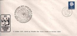 Netherlands 15.10.1972 Cover With Special Cancellation,  Woerden 600 Jaar Stad, Krijgsgebeuren - 1949-1980 (Juliana)