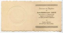 Souvenir Du Baptème De LAHAYE Josette  *BRACH*  *Verviers * - Geboorte & Doop