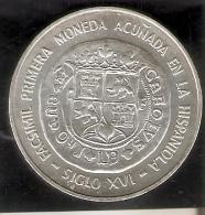 MONEDA DE PLATA DE LA REP. DOMINICANA DE 10 PESOS DEL AÑO 1975 DE LA 1ª MONEDA ACUÑADA HISPANIOLA (COIN) SILVER-ARGENT. - Dominicaine