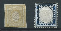 Italie - 1862 - Y&T 1&3  - Oblit. - 1861-78 Vittorio Emanuele II