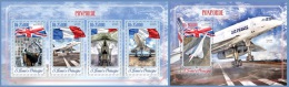 st14606ab S.Tome Principe 2014 Concorde Flag 2 s/s