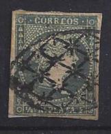 Spain (Cuba)  1855  (o)  1/2r  (dark Green) - Kuba (1874-1898)