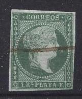 Spain (Cuba)  1855  (o)  1r  (green) - Cuba (1874-1898)