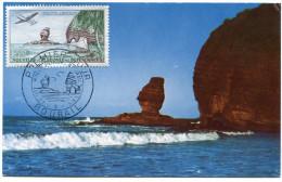NOUVELLE-CALEDONIE CARTE MAXIMUM DU PA 72  200F.  LA ROCHE PERCEE A BOURAIL OBLITERATION 1er JOUR 21-3-59 BOURAIL - Maximum Cards
