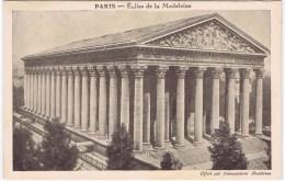 Cpa PARIS Eglise De La Madeleine (pub Sirop Deschiens) - Kerken