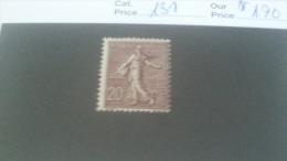 LOT 241052 TIMBRE DE FRANCE NEUF** N�131 VALEUR 190 EUROS