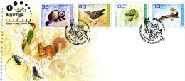 HUNGARY 2010 FDC With SNAKE,BIRD,MAMMEL,INSECT. - Serpents