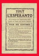 Petit Livre Ancien -  TOUT L´ESPERANTO -  +/- 1920 -  (3781) - Dictionnaires
