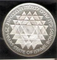 MONEDA DE PLATA DE ISRAEL DE 25 LIROT DEL AÑO 1975 (COIN) SILVER-ARGENT - Israel