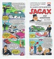 Les Conseils Du Chef De Gendarmerie SAGAX Sur Autoroute Par Jean Ache (Pat'Apouf) - Objets Publicitaires