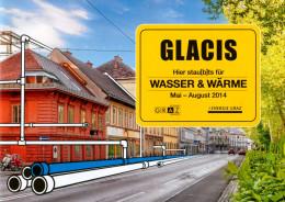 Broschüre Folder Graz Glacis Bauarbeiten 2014 Baustelle Straße Wasser & Wärme Steiermark Österreich Austria Autriche - Mitteilung