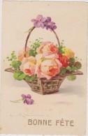 Cpa,signée,illustrateur,a Rtiste Reconnue,klein, Panier,à Fleur,décoré Avec Soin,carte De Bonne Fète - Klein, Catharina