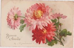 Cpa,signée,illustrateur,a Rtiste Reconnue,klein, La Bonne Année Avec Un Bouquet De Fleurs,la Vie - Klein, Catharina