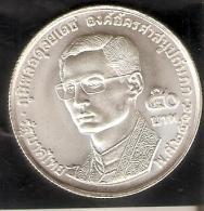 MONEDA DE PLATA DE TAILANDIA DE 50 BAHT DEL AÑO 1971  (COIN) SILVER-ARGENT - Thaïlande