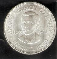 MONEDA DE PLATA DE FILIPINAS DE 1 PISO DEL AÑO 1963 DE ANDRES BONIFACIO (COIN) SILVER-ARGENT - Filipinas