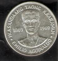 MONEDA DE PLATA DE FILIPINAS DE 1 PISO DEL AÑO 1969 DE IKASANDAANG TAONG  (COIN) SILVER-ARGENT - Philippines