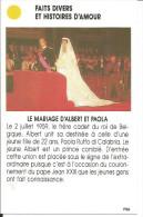 Carte Jeu - Photo Paris Match, Mariage Paola Et Albert - Prince, Frère Du Roi De Belgique - 1959 - Unclassified