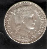 MONEDA DE PLATA DE LETONIA DE 5 LATI DEL AÑO 1931   (COIN) SILVER - ARGENT. - Latvia