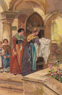 """""""Thy Kingdom Come"""", Women And Children Entering Church For A Baptism Of Baby, 00-10s - Christianity"""