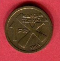 KATANGA 1 FRANC        (KM 1  ) TB 5 - Zaïre (1971-97)